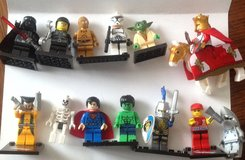 Superhero Starwars mini figures legos and non lego mini figures in New Lenox, Illinois