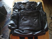 BUFFALO LEATHER DIAMOND PLATE BACKPACK NEW in Barstow, California