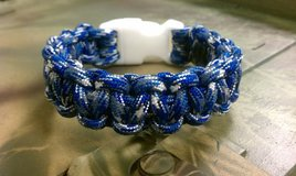 U.S. Navy, Blue Camo Paracord Bracelet in Quantico, Virginia
