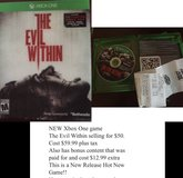 Xbox one NEW Game The Evil Within NEW in Baytown, Texas