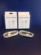 IPHONE 5/6 LIGHTING CHARGING CABLES  (2-PACK) in Joliet, Illinois