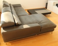 Italian Design Couch - dark grey leather in Stuttgart, GE