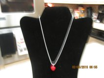 Little Red Heart Necklace - New In Organza Pouch in Houston, Texas
