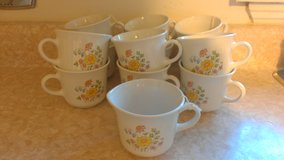 Vintage Spring Meadow Pattern Corelle Corningware Cups $3.00 Each in Glendale Heights, Illinois