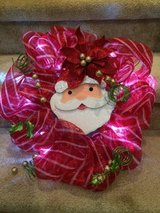 Battery operated (light up) Christmas wreath in Houston, Texas