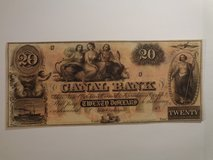 Canal Bank New Orleans $20 note in Houston, Texas