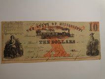 The State of Mississippi $10 note 1862 in Houston, Texas