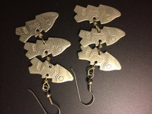 fish metal eareings in Conroe, Texas