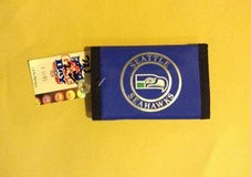 "*** SEATTLE SEAHAWKS ""OLD SCHOOL"" TRI-FOLD NYLON WALLET (NEW) *** in Fort Lewis, Washington"