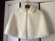 David's Bridal Ivory Faux Fur Capelet - Wedding in St. Charles, Illinois