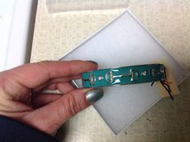 NIB Pixley w/ Diamonds Connely Horse Bit Bangle Silver Enamel Teal Hinged in Kingwood, Texas