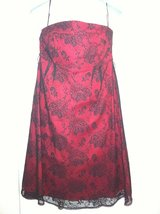 BNWT Dressy Maternity Red-Black Party/Evening Dress sz L in Naperville, Illinois