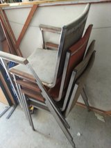** 5 Steel Frame Stackable  Chairs ** in Camp Lejeune, North Carolina