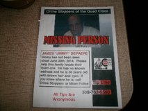 """James """"Jimmy"""" Depaepe, Help find, Missing Person. Thanks for your time & consideration in Quad Cities, Iowa"""