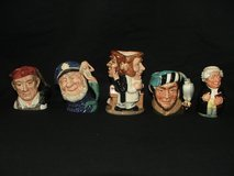 Royal Doulton Toby Mugs Jugs Collection Made in England in St. Charles, Illinois