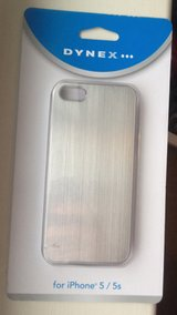 2 NIB silver iphone 5/5S cases by Dynex in Clarksville, Tennessee
