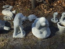 Concrete Yard Art Dogs, Angels & More in Camp Lejeune, North Carolina