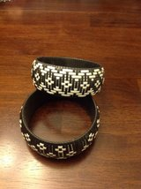 Set of two Black-and-white woven jewlery bracelets in Batavia, Illinois