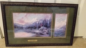 CLEARANCE Thomas Kinkade Accent Print Evening Majesty Beginning Of A Perfect Evening COA in Oswego, Illinois