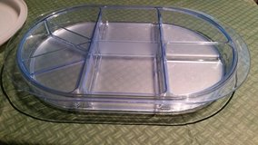 Tupperware Covered Blue Acrylic Divided Tray 5 pc in Oswego, Illinois