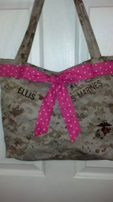 USMC MARPAT Desert Tote Bag with Bow in Camp Lejeune, North Carolina