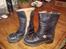 Womans Size 7 M Harley Davidson Leather Boots Black with Zippers Womens in Camp Lejeune, North Carolina