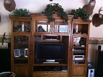 Solid oak Entertainment center REDUCED! in Fort Leonard Wood, Missouri