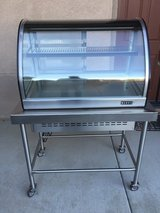 Anvil industrial refrigerated stainless steel display cabinet in Temecula, California