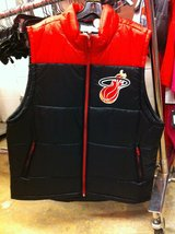 Miami Heat Hardwood Classics Full Zip Vintage Vest - Black/Red *REDUCED* in Pleasant View, Tennessee