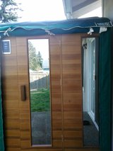 2-3 PERSON SAUNA WITH REMOTE SOUND SYSTEM AND LIGHT THERAPY in Fort Lewis, Washington