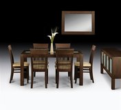 Dining Set - Santiago in Wenge Finish - monthly payments possible in Aviano, IT