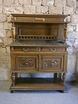 Henry II Anrichte,Sideboard 1880 with marble in Ramstein, Germany