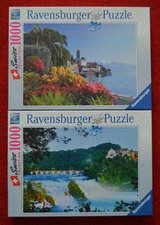 Ravensburger Puzzle lot of 2 x 1000 -Swiss Collection -Cascate del Reno/ Briss in Naperville, Illinois