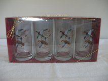 4 Gold Trimmed Drinking Glasses ( Ducks) in Oswego, Illinois