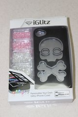 NEW iGlitz SKULL iPhone 4/4s cell case cover-personalize your own! in Yorkville, Illinois