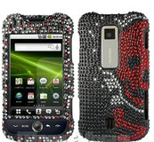 NEW HUAWEI ASCEND M860 Rhinestones Skull Hard Snap cell phone case cover in Naperville, Illinois