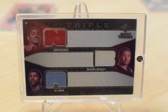 2008 Tiple Jersey card Derrick Rose, Michael Beasly, and OJ Mayo in Ramstein, Germany
