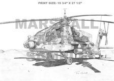 Apache -Helicopter Print- AH64 in Dothan, Alabama