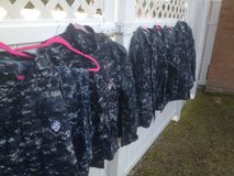ASSORTED MILITARY GEAR NAVY CAMMIES, BOOTS & FIELD BAG in Jacksonville, Florida