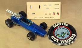 Hot Wheels 1969 Vintage Brabham Repco F1, Spectraflame Blue, With Metal Button and Decals in 29 Palms, California