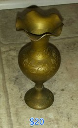 Authentic Collectable Vintage Brass Vase  India in Macon, Georgia