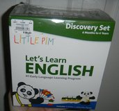 NEW Little Pim Let's Learn English Discovery Set w/ 3 DVDs & Panda Plush in Houston, Texas