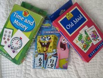 Cards/Flash Cards (Old Maid, Sponge Bob Addition/Subtr, Time and Money in Ramstein, Germany
