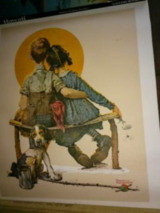 Norman Rockwell-Littl Spooners &.Knuckles Down in Byron, Georgia