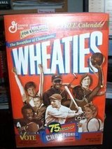 Wheaties Box Tiger Woods and other Greats..sealed in Camp Lejeune, North Carolina