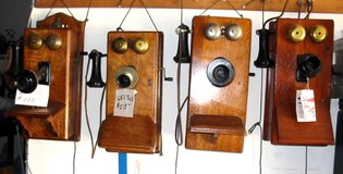 Antique Oak Wall Phones in Vista, California