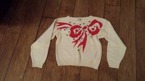 Sweater, Ivory with Red/Black Design, Size Small in Kingwood, Texas
