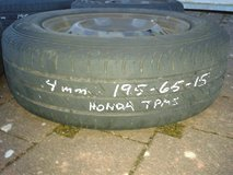 195/65R15 tires and Honda wheels with TPMS sensors in Ramstein, Germany