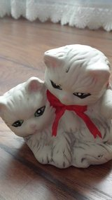 White Ceramic Cats in Kingwood, Texas