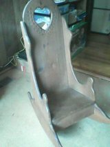 Vintage Kids wooden rocking chair in Perry, Georgia